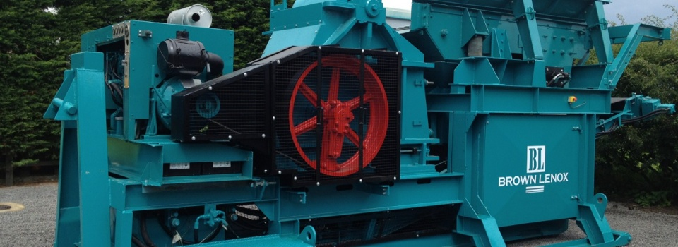Brown Lenox Kue Ken 75S Transportable jaw crusher now working underground in a tunnelling project in Scotland